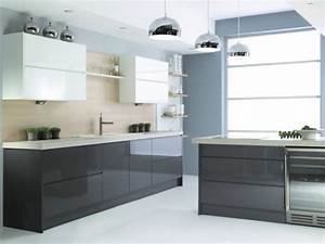cuisine bleue et blanche 2 cuisine gris anthracite 56 With cuisine bleue et blanche