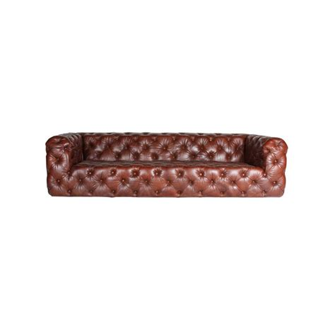 canapé chesterfield marron canapé chesterfield cube en cuir marron vintage