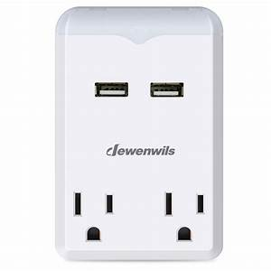 Multi Outlets Travel Power Converter 3 1a Dual Usb Ports