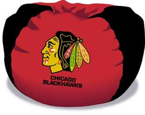 chicago blackhawks bean bag