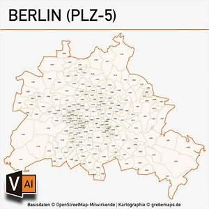 Berlin Plz Karte : berlin postleitzahlen karte plz 5 vektor grebemaps kartographie ~ One.caynefoto.club Haus und Dekorationen