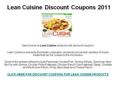 cuisine addict code promo lean cuisine discount coupons 2011 authorstream