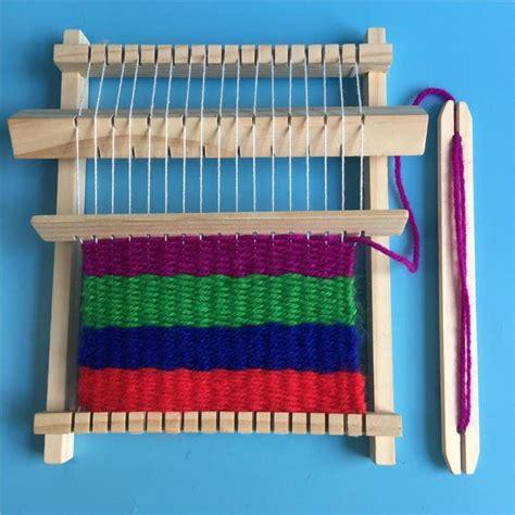 traditional wooden weaving loom craft yarn diy educational