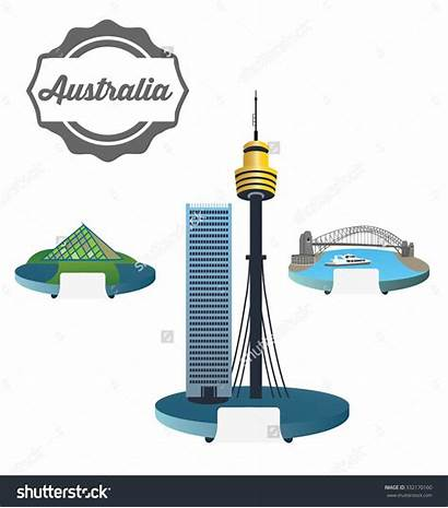 Sydney Tower Clipart Bridge Harbour Australia Pyramid