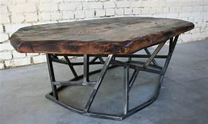 Table Basse Bois Et Metal : table basse sf 39 tb008 giani desmet meubles indus bois ~ Dallasstarsshop.com Idées de Décoration