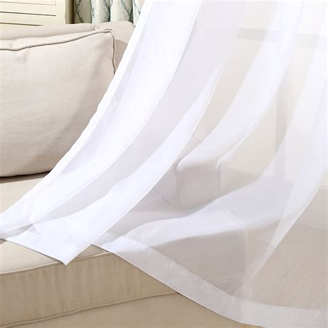 cheap curtains for living room white tulle organza window