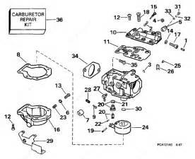 Evinrude 1998 35 - E35qleca  Carburetor 25 Hp