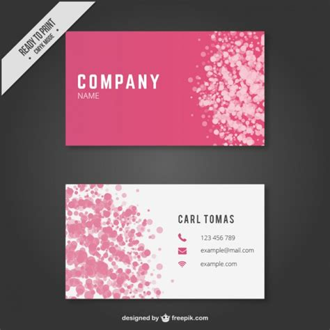 girly business cards templates free abstract business card template vector free