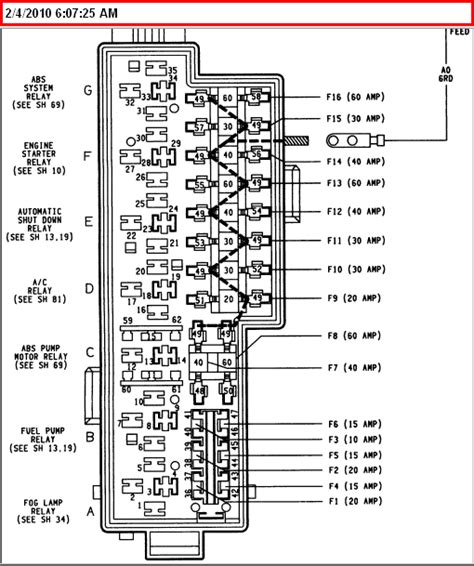 Windshjeld 04 Jeep Liberty Fuse Diagram For Washer by Re 94 Jeep Grand Laredo 4x4 I M Getting An