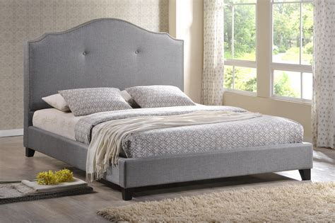 Madison Black Modern Bed With Upholstered Headboard (queen