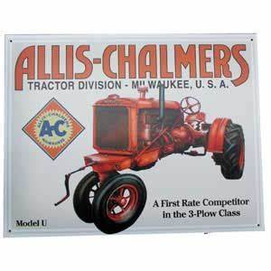 Cat  1133 - Allis Chalmers Metal Sign -