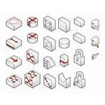 Visio Network Isometric Symbols Internet Stencils Shapes