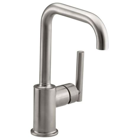 no water from kitchen faucet shop kohler purist vibrant stainless 1 handle high arc