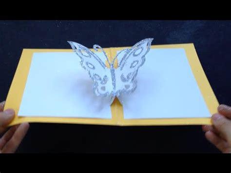 easy butterfly kirigami pop  card diy birthday day gift