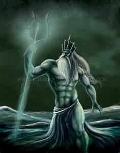 Poseidon Illustration Drawing Picture, Poseidon ...