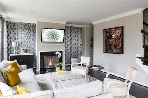 Sophisticated Gray Interior by Sophisticated Gray Transitional Living Room Dc Metro