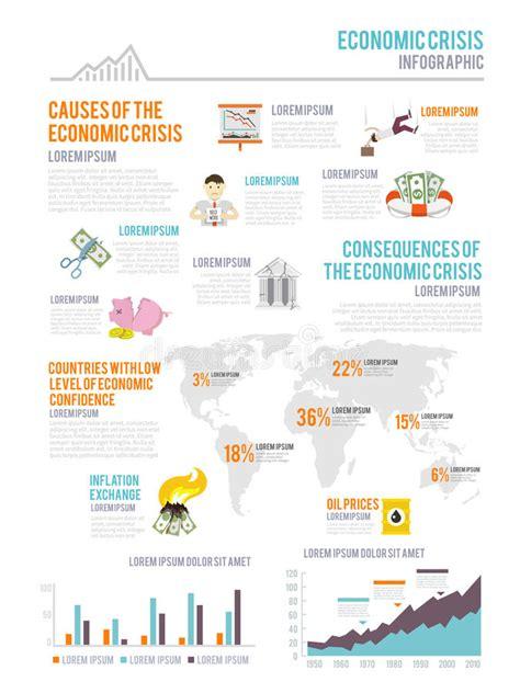 Economic Crisis Infographics Stock Vector - Illustration ...