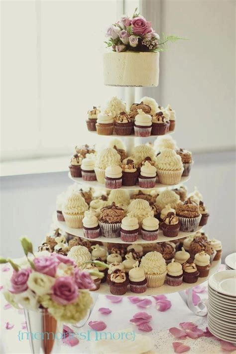 Gigis Cupcakes Wedding Reception Cupcake Stands Mix Of