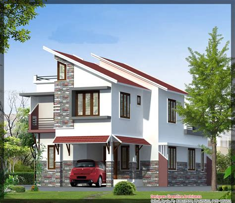 contemporary kerala house elevation   sqft