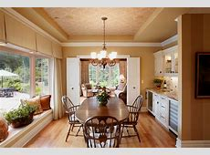 bay window bench Dining Room Traditional with bay window