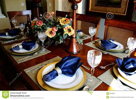 silver charger dressed dining room table stock image image of glasses
