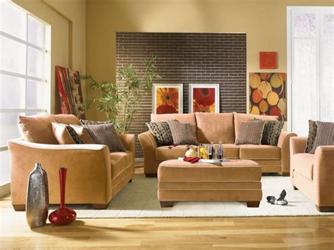 decorating home ideas decorating for living room with white tile look rug brown sofas with
