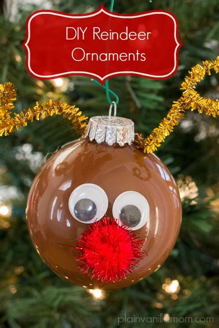 diy reindeer ornament plain vanilla mom