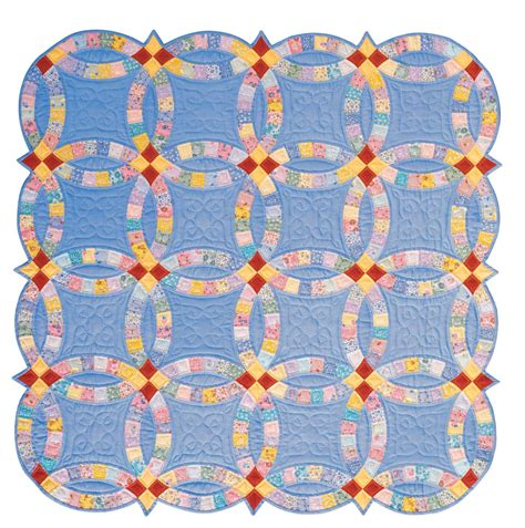 double wedding ring acrylic quilt template by quilting from the heartland