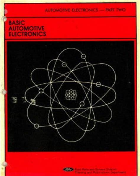 used basic automotive electronics training manual part 2
