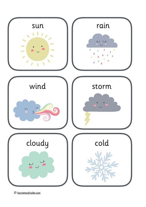 weather flashcards weather seasons classroom display