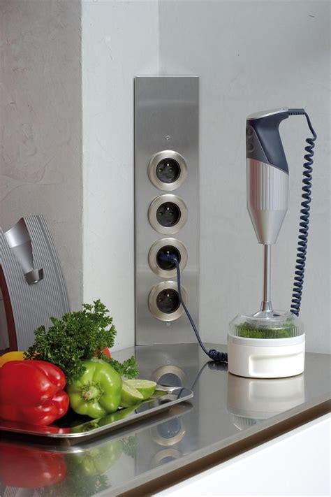 prise electrique design cuisine prise de cuisine bloc esquina 2 prises électriques et