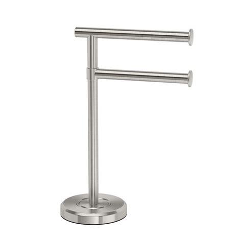 countertop towel rack gatco latitude ii minimalist countertop 12 in 2 arm pivot