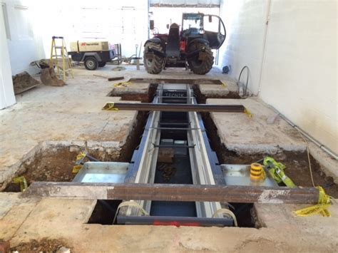 Vehicle Inspection Pit Construction   Prefabricated