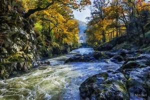 """""""Autumn River Valley"""" by Ian Mitchell Redbubble"""