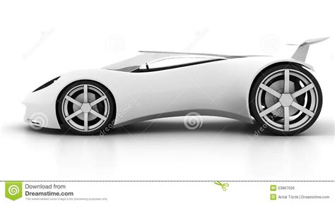 White Sport Car by Side View White Sports Car Stock Photo Image Of