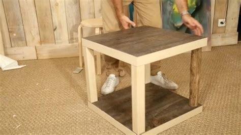 fabriquer une étagère imposant refaire une table en bois comment repeindre une table en bois vernis