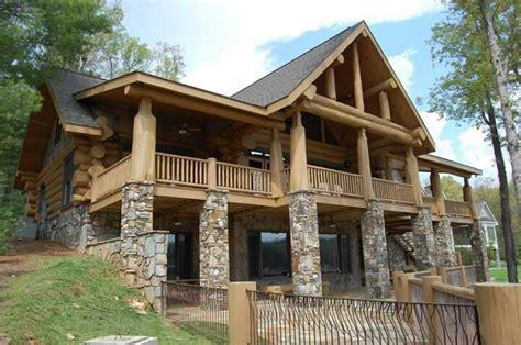 stone wood house dream plans pinterest houses house plans