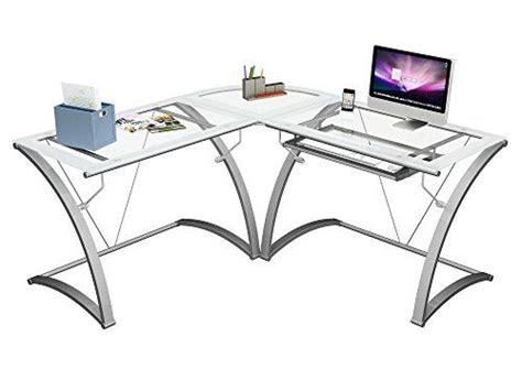 designs kora  desk silver glass computer desks