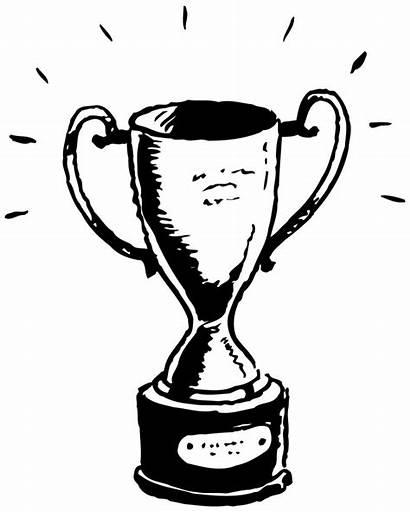 Sports Trophy Clipart Award Royalty Winners Achievement