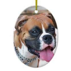 boxer dog double sided oval ceramic christmas ornament zazzle