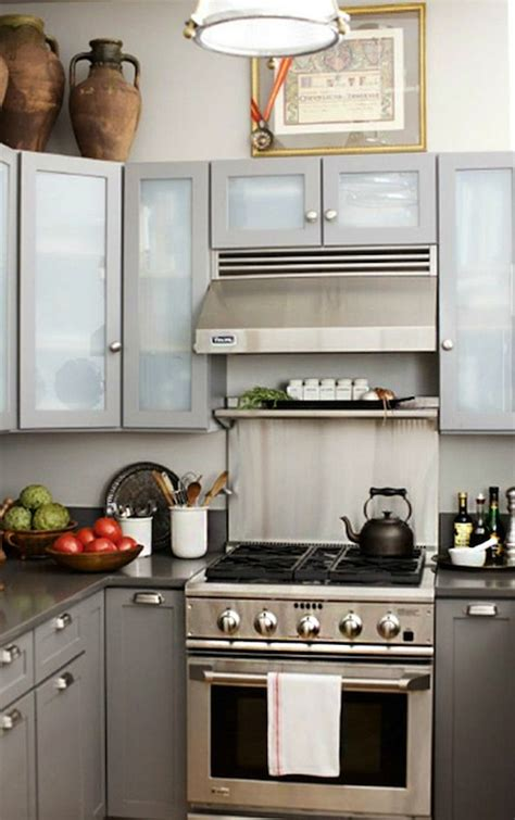 Frosted Glass KItchen Cabinets - Modern - kitchen - Emily