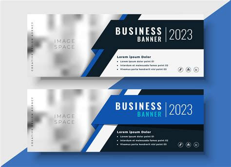 professional blue business banners  image space   vector art stock graphics