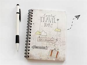 Tagebuch Selber Machen : din a6 reisetagebuch let s explore the world ein designerst ck von herrpfeffer bei dawanda ~ Frokenaadalensverden.com Haus und Dekorationen