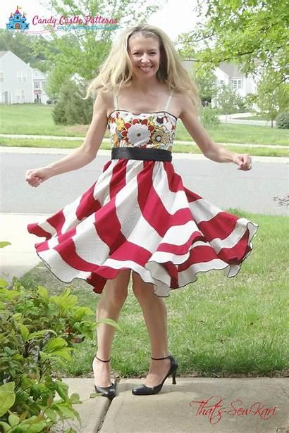 Swirl Peppermint Dresses Dress Patterns Ladies Sewing