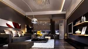 10, Stylish, Dark, Living, Room, Interior, Design, Ideas