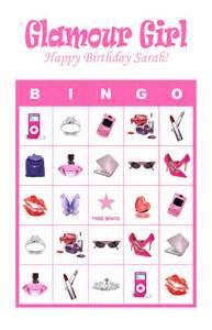 Diva Glamour Girl Slumber Birthday Party Game Bingo Ebay