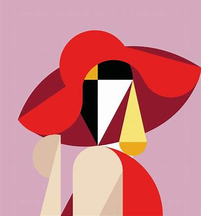 Geometric Abstract Designs Illustrations Inspiring Behance Bashooka