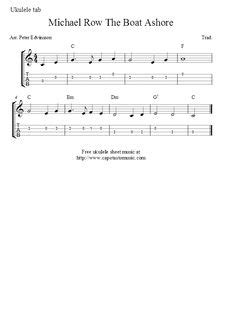 Michael Row The Boat Ashore Easy Chords by Finale 2008 Edelweiss Chord Melody Arrangement For