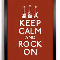 keep calm and rock on guitars 8 x 10 print buy 2 get 1 free With kitchen cabinets lowes with beats headphones stickers