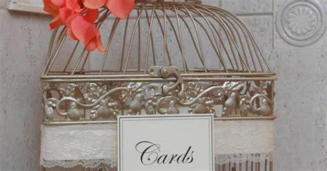 Champagne Gold Birdcage / Card Box / Wedding Card Holder